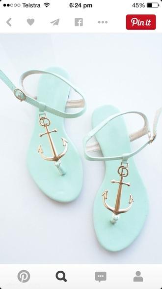 shoes aqua anchor sandals