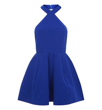 dress blue summer dress elegant pretty street fashion dreamy
