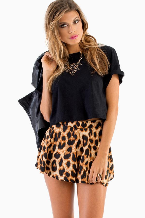 Flouncy Leopard Shorts - Tobi