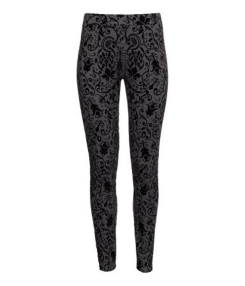 pants leggings black leggings flower leggings high waisted leggings