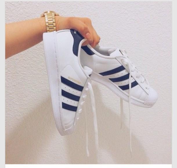 adidas superstar shoes navy blue