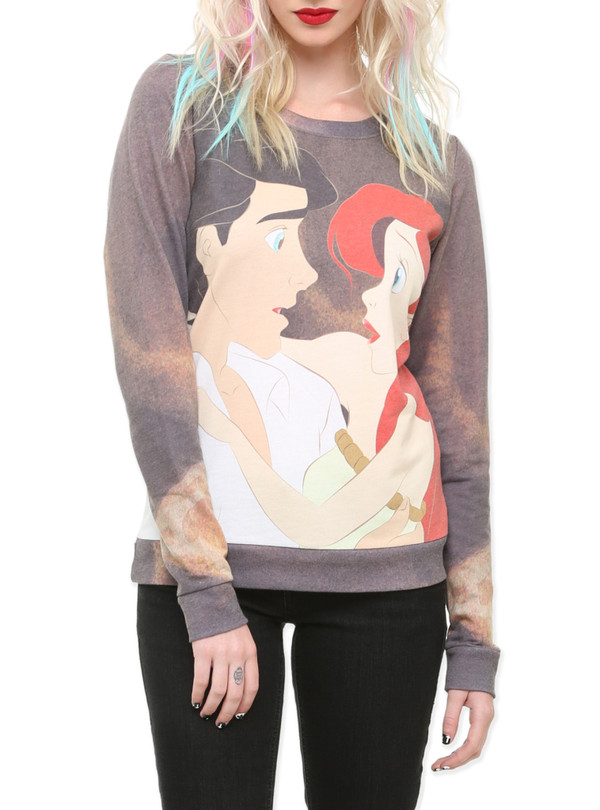 sweater the little mermaid full print disney disney