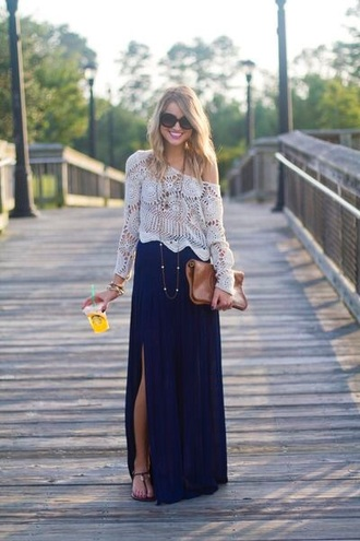 sweater crochet top white lace top