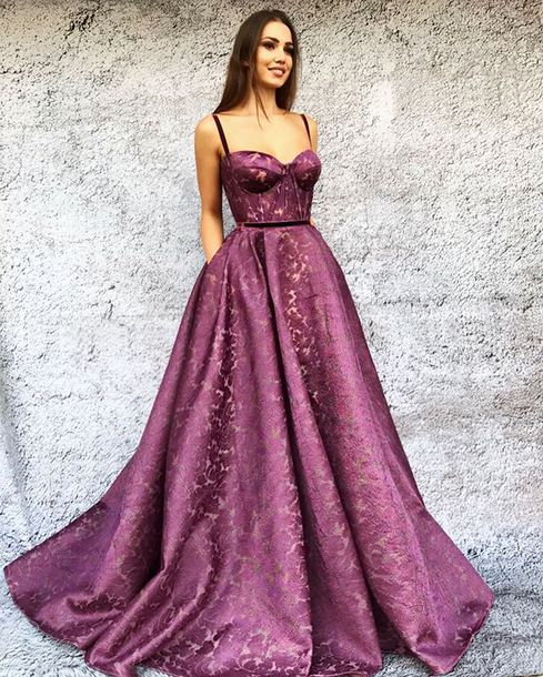 dress lace pink dress gown