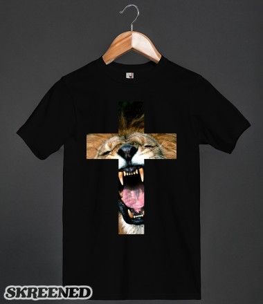 Lion cross (black)