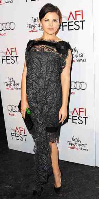 dress ginnifer goodwin black