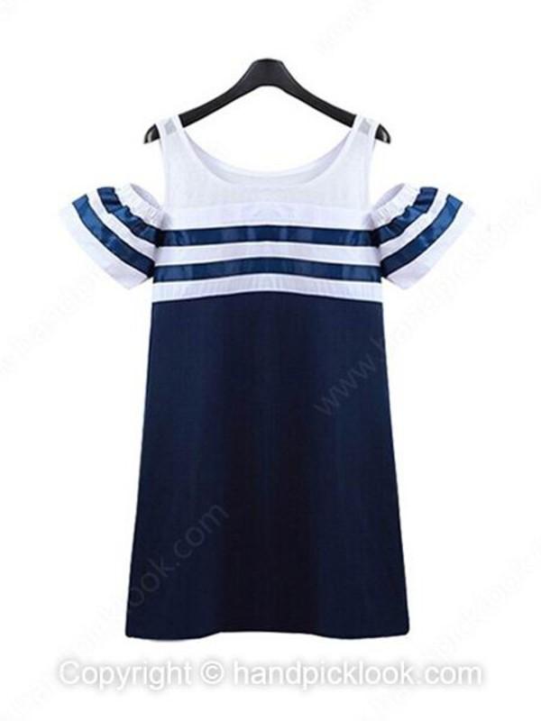 striped dress short dress dress