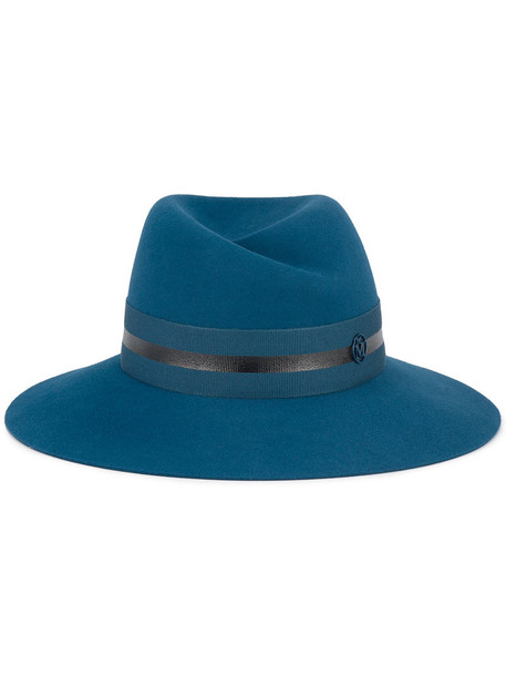 Maison Michel women hat fedora blue