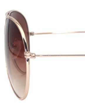 ASOS | ASOS Gold Aviator Sunglasses at ASOS