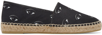 espadrilles print black shoes