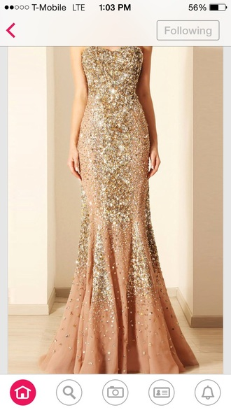 dress sparkles mermaid prom dress