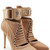 Lace Up Stiletto Boots with Leather and Suede