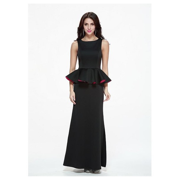 7a43bcceea9 dress black dress sheath wedding dress cotton Graceful Stand Collar Long  Sleeve Solid Color Buttons Embellished