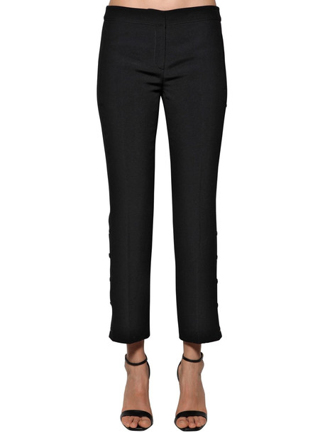 N 21 Side Snap Button Twill Pants in black