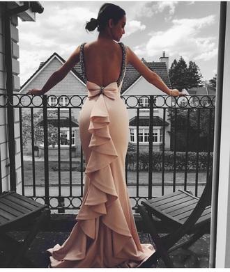 dress bow tie open back dresses bridesmaid