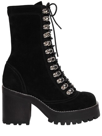 boots suede boots lace suede black shoes