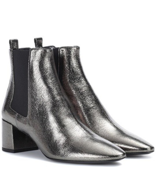 Saint Laurent leather ankle boots ankle boots leather metallic shoes