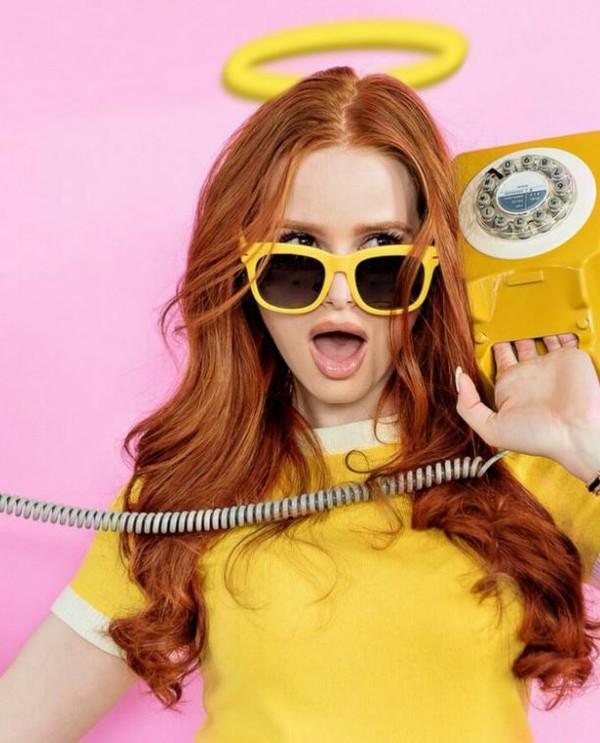sunglasses yellow madelaine petsch editorial top