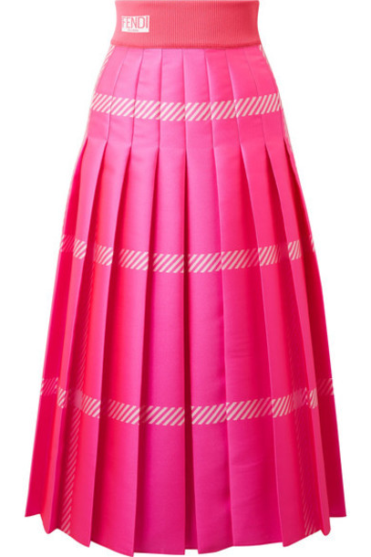 Fendi skirt midi skirt pleated midi jacquard