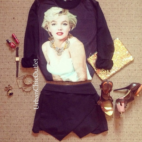 sweater marilyn monroe shorts