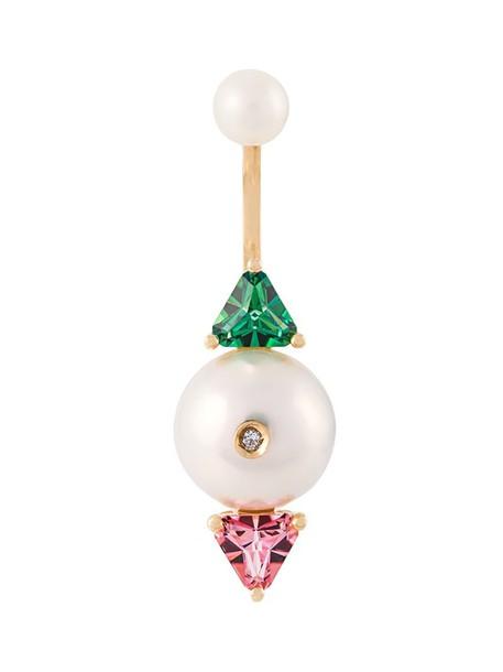 women gold green jewels