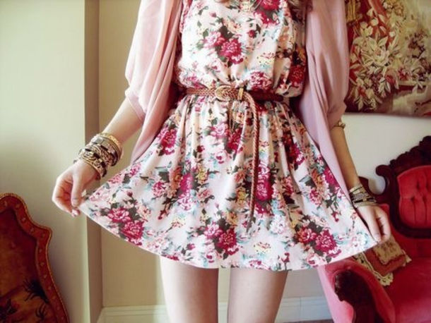 dress floral dress cute outfits casual dress hipster white flowers cute pink flower dress flowy doll belt floral dress cute dress blouse girly white dress red dress