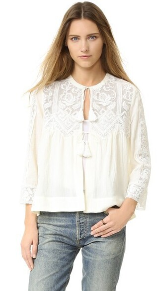 top embroidered cream