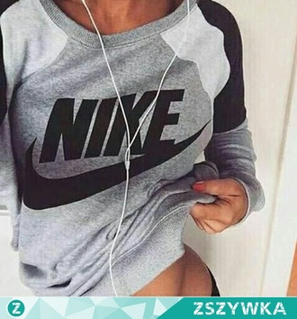 blouse nike clothes grey girl nike clothing sweatshirt