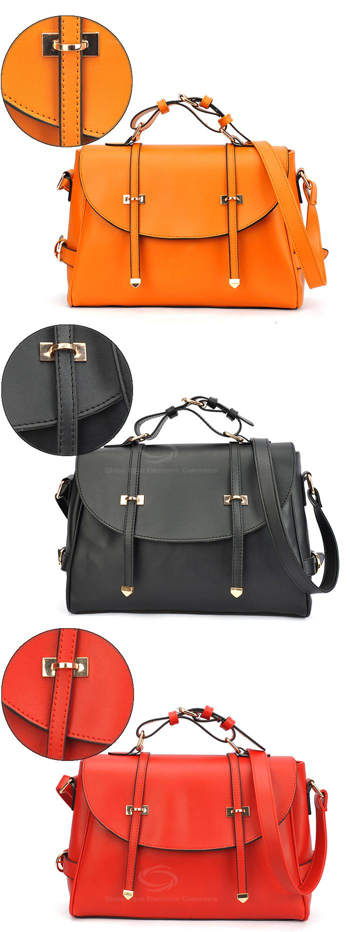 Wholesale Fashion and Laconic Solid Color Covered PU Bag For Women (BLACK), Shoulder Bags - Rosewholesale.com