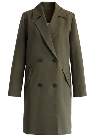 coat be classy double-breasted blazer in army green chicwish blazer amy green double breasted chicago bulls