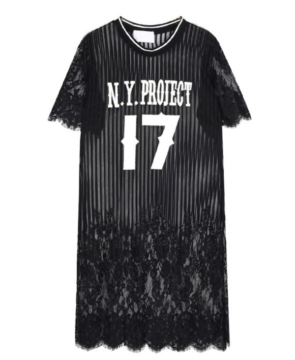 number print dress black dress lace dress streetstyle