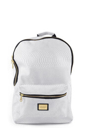 bag,back to school,snake,crocodile,white,rucksack snakeskin gold white zip zips pockets bag