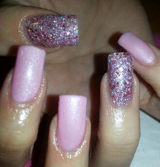 nail polish nails nail art glitter nail polish hands pink silver glitter
