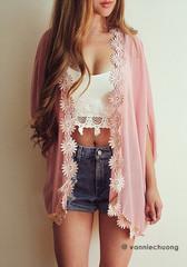 Daisy Trim Kimono - Lookbook Store
