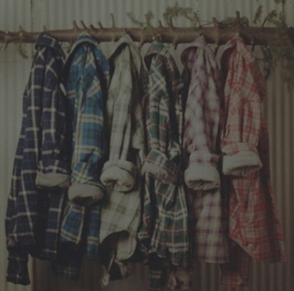 shirt oversize vintage black blue grey violet chequed green grunge softgrunge 80's checkered 90's original