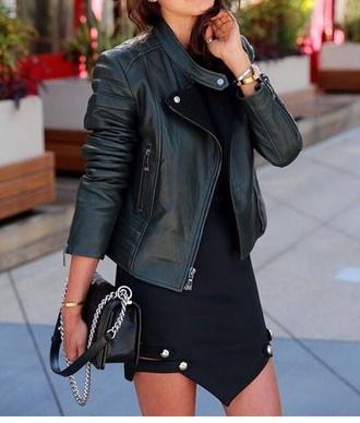 jacket black leather leather jacket black jacket black leather jacket dress black dress bag style cool cool style