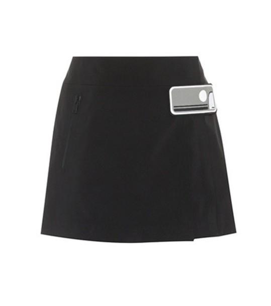 Prada miniskirt embellished black skirt