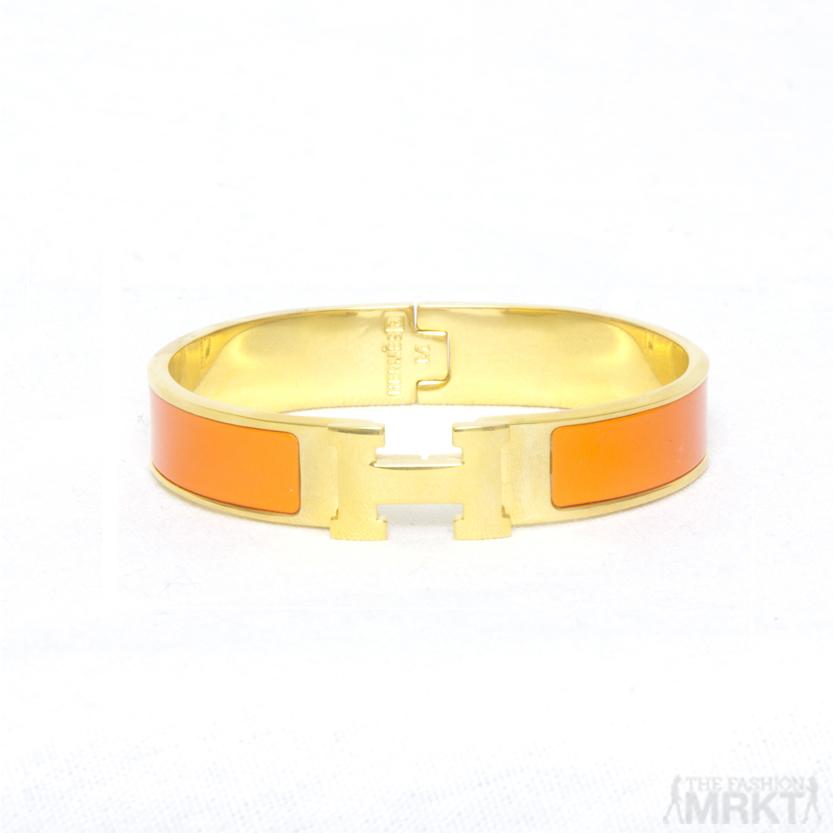 Hermes Inspired Enamel 'H' Bracelet / TheFashionMRKT