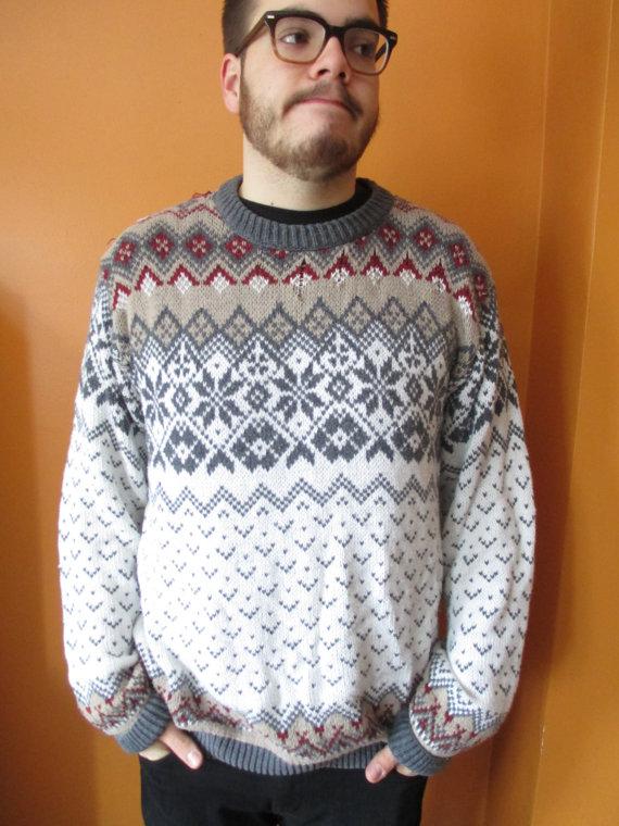 Unisex Eddie Bauer Cozy Grandpa Sweater w/ by ContinentalThrift