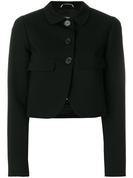 Rochas jacket cropped women spandex black wool