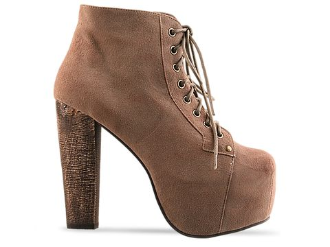 Jeffrey Campbell Taupe Suede Lita