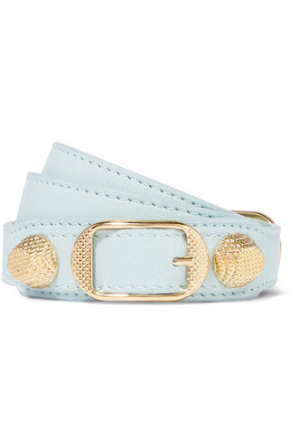triple gold leather turquoise jewels