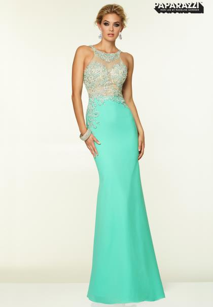 Mori Lee Halter Top Prom Dress 97046