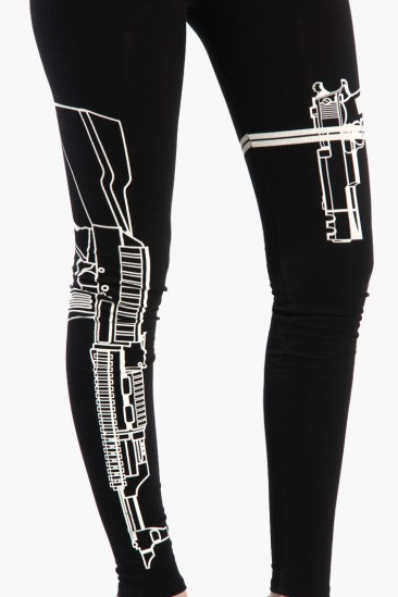 LoveMelrose.com From Harry & Molly | Machine Gun Leggings - Black
