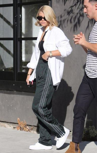 pants sweatpants sofia richie streetstyle shirt