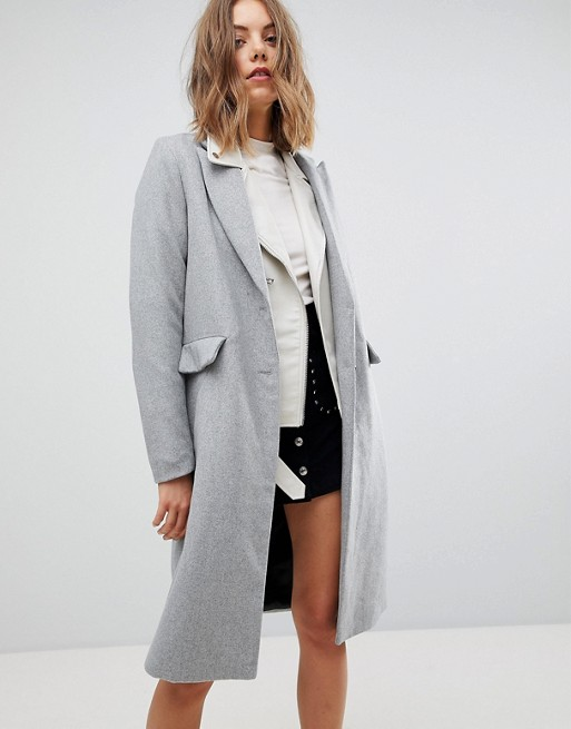 Stradivarius Longline Smart Coat at asos.com