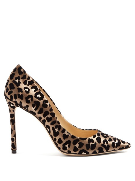 Jimmy Choo heels print velvet shoes