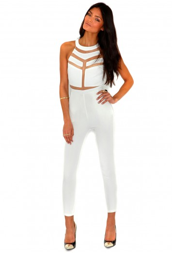 Milenka mesh panel jumpsuit