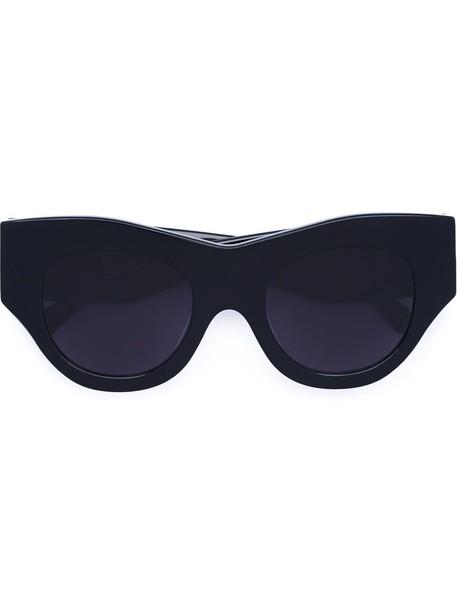 Vera Wang women thick sunglasses black
