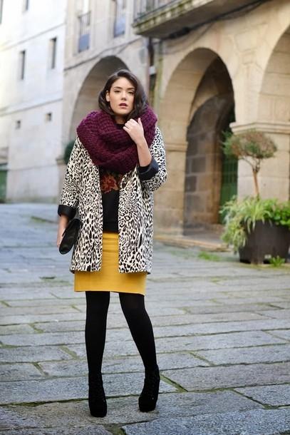 si las calles hablasen skirt bag coat sweater scarf shoes